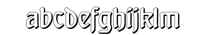 BehrensschriftShadow Font LOWERCASE