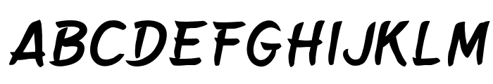 BelepotanItalic Font UPPERCASE