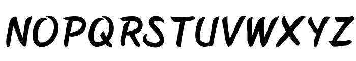 BelepotanItalic Font LOWERCASE