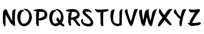 Belepotan Font LOWERCASE