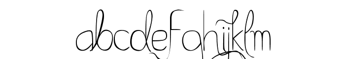 Bella K. A Better Place Normal Font LOWERCASE