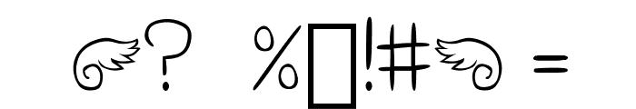 Bella K. Don't Blink Regular Font OTHER CHARS