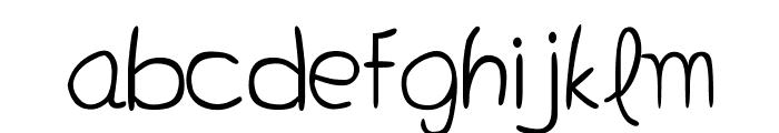 Bella K. Don't Blink Regular Font LOWERCASE