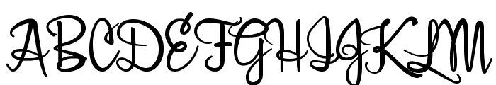 Belle Script Font UPPERCASE