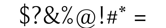 Bellefair Regular Font OTHER CHARS