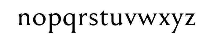 Bellefair Regular Font LOWERCASE