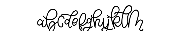 Bellinda Script Font LOWERCASE