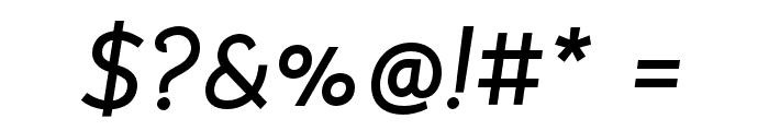 Bellota Bold Italic Font OTHER CHARS