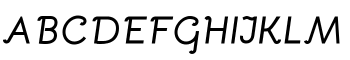 Bellota Bold Italic Font UPPERCASE