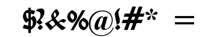 Belwe Gotisch Font OTHER CHARS