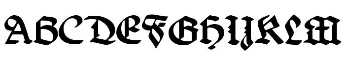 Belwe Gotisch Font UPPERCASE