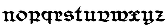 Belwe Gotisch Font LOWERCASE