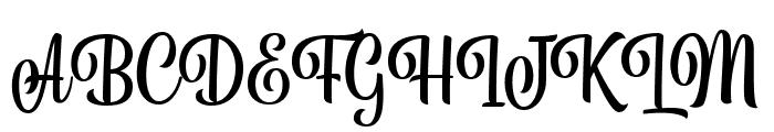 BelymonScriptDEMO Font UPPERCASE