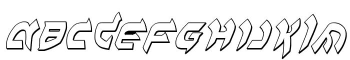 Ben-Zion 3D Italic Font UPPERCASE