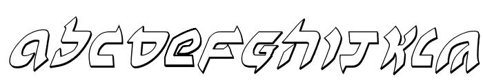Ben-Zion 3D Italic Font LOWERCASE