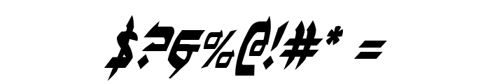 Ben-Zion Condensed Italic Font OTHER CHARS