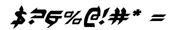 Ben-Zion Expanded Italic Font OTHER CHARS