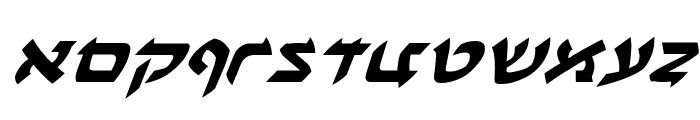 Ben-Zion Expanded Italic Font LOWERCASE