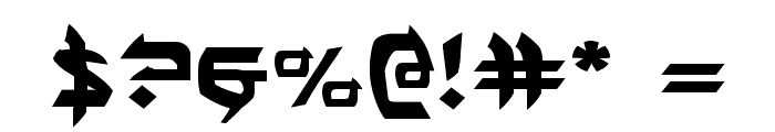 Ben-Zion Expanded Font OTHER CHARS