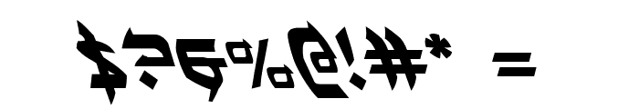 Ben-Zion Leftalic Font OTHER CHARS