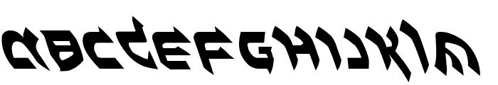 Ben-Zion Leftalic Font UPPERCASE