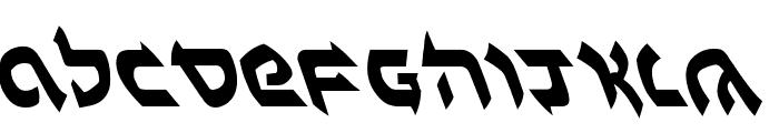 Ben-Zion Leftalic Font LOWERCASE