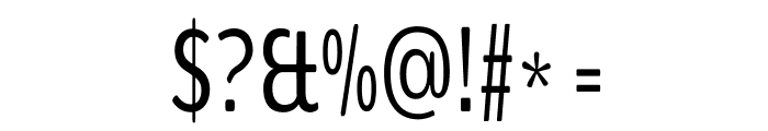 BenchNine Regular Font OTHER CHARS