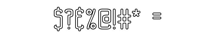Bend 2 Squares OL1 BRK Font OTHER CHARS