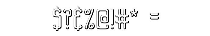Bend 2 Squares OL2 BRK Font OTHER CHARS