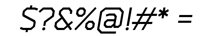 Bender-Italic Font OTHER CHARS