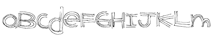 BenderLines Font UPPERCASE
