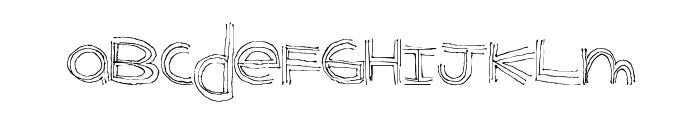 BenderLines Font LOWERCASE