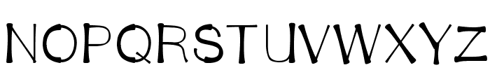 BendyStraw Font UPPERCASE