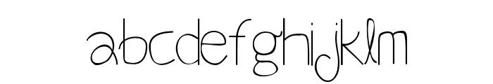 Beneath Your Beautiful Regular Font LOWERCASE