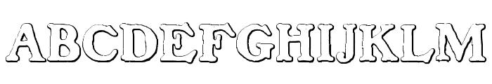 BenjaminFranklin Beveled Font UPPERCASE