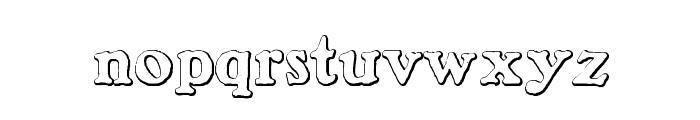 BenjaminFranklin Beveled Font LOWERCASE