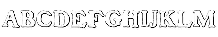 BenjaminFranklinBeveled Font UPPERCASE