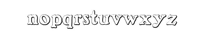 BenjaminFranklinBeveled Font LOWERCASE