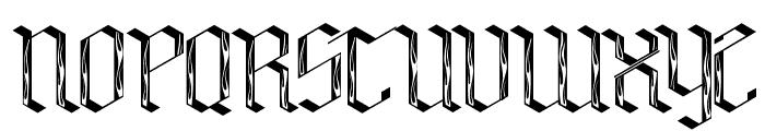 Bensch Gothic Flames Font UPPERCASE