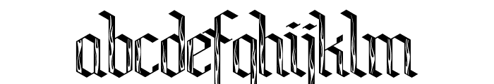 Bensch Gothic Flames Font LOWERCASE