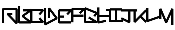 BentOut Font UPPERCASE