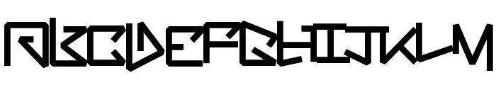 BentOut Font LOWERCASE