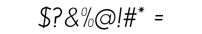 Beo Italic Font OTHER CHARS