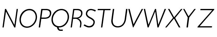 Beo Italic Font UPPERCASE