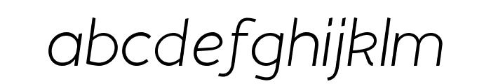 Beo Italic Font LOWERCASE