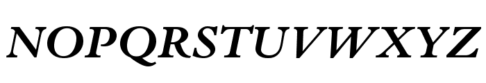 BergamoStd-BoldItalic Font UPPERCASE