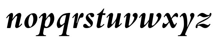 BergamoStd-BoldItalic Font LOWERCASE
