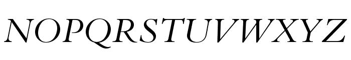 BergamoStd-Italic Font UPPERCASE