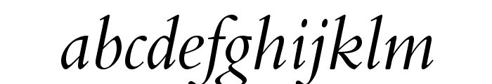 BergamoStd-Italic Font LOWERCASE
