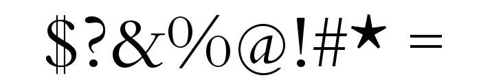 BergamoStd-Regular Font OTHER CHARS